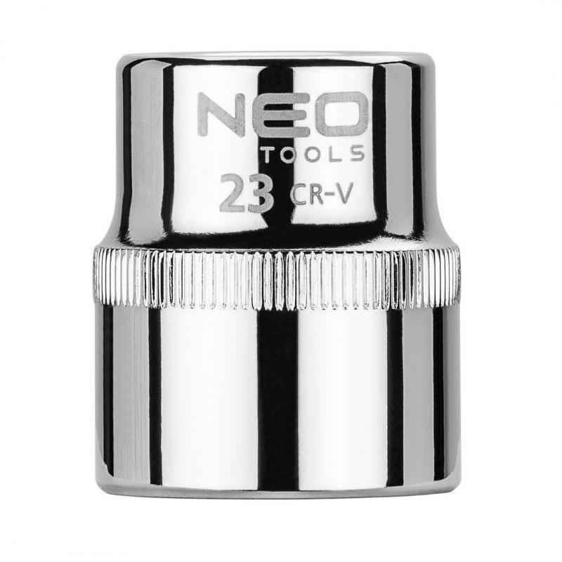 """NEO Nasadka sześciokątna 1/2"""", 23 mm, Superlock"""