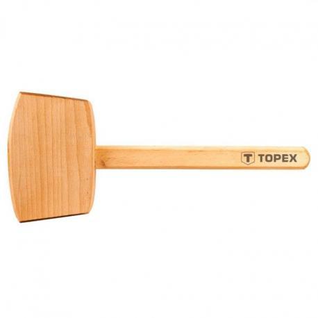 TOPEX Młotek drewniany 500 g, trzonek drewniany