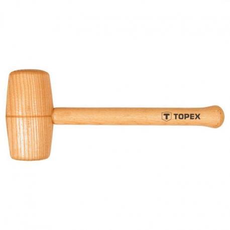 TOPEX Młotek drewniany okrągły, 70 mm, trzonek drewniany