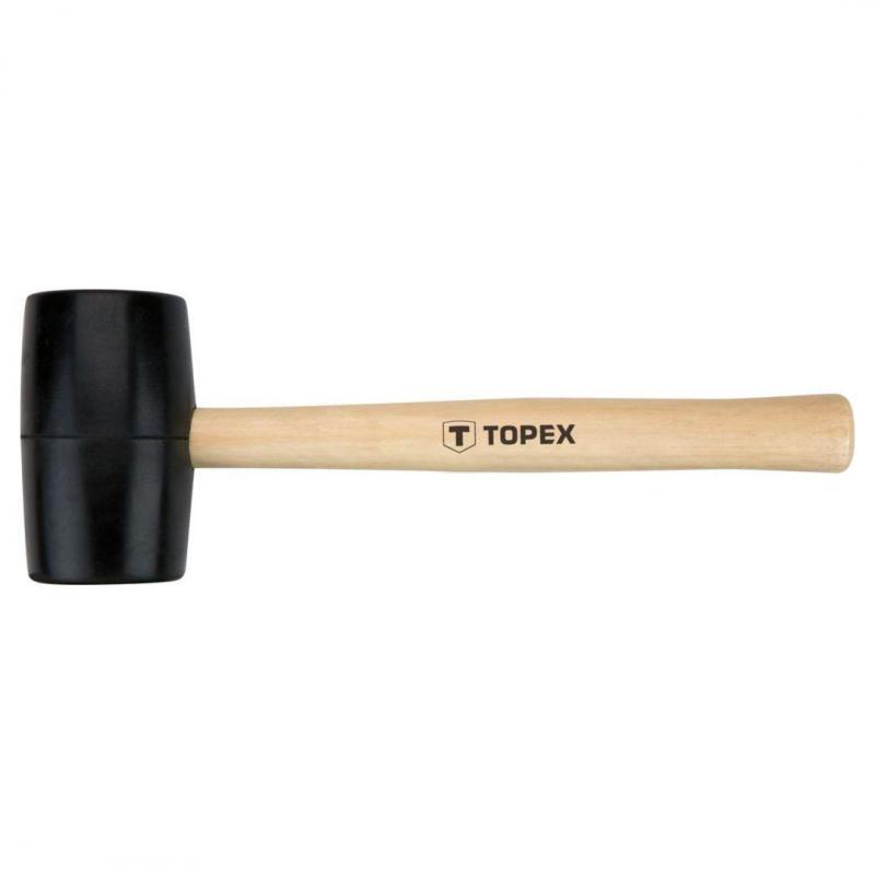 TOPEX Młotek gumowy 50 mm/340 g, trzonek drewniany