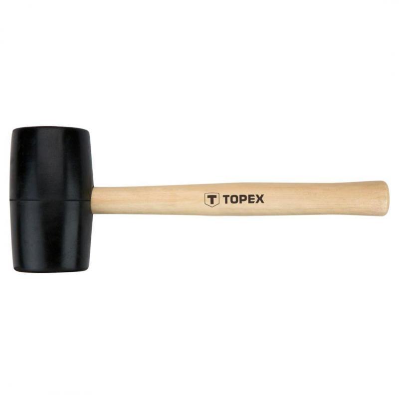 TOPEX Młotek gumowy 58 mm/450 g, trzonek drewniany