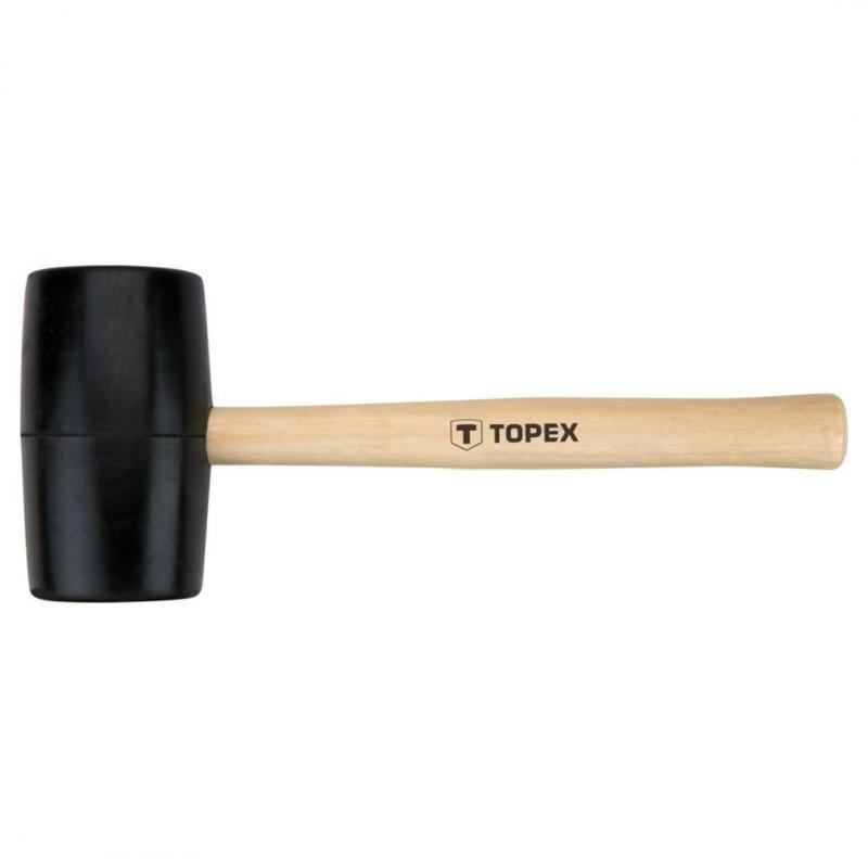 TOPEX Młotek gumowy 63 mm/680 g, trzonek drewniany
