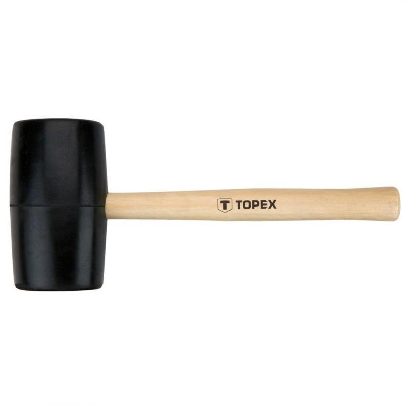 TOPEX Młotek gumowy 72 mm/900 g, trzonek drewniany