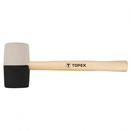 TOPEX Młotek gumowy 63 mm/680 g, czarno-biała guma