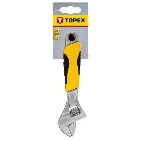 TOPEX Klucz nastawny 150 mm, zakres 0-20 mm