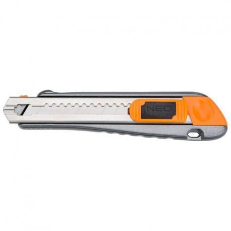 NEO Nóż z ostrzem łamanym 18 mm, metalowy korpus