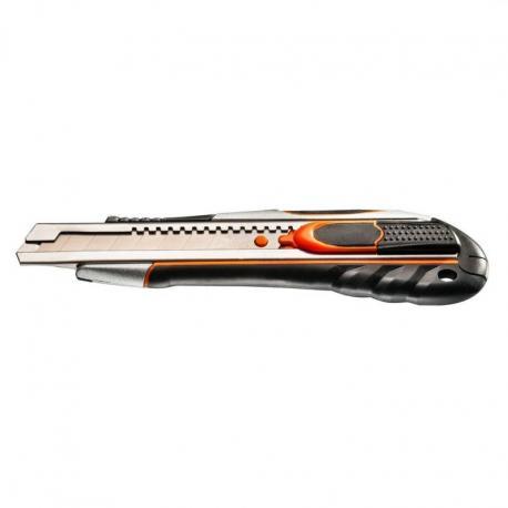 NEO Nóż z ostrzem łamanym 18 mm, szybkie cięcie i blokada ostrza
