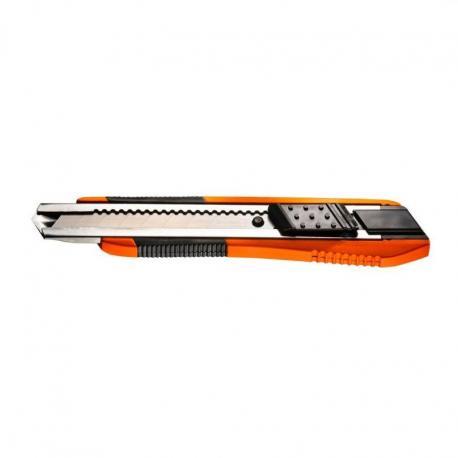 NEO Nóż z ostrzem łamanym 18 mm, gumowane wykończenie
