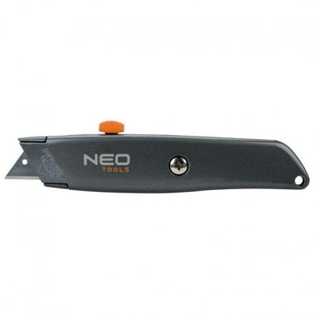 NEO Nóż z ostrzem trapezowym, metalowy korpus