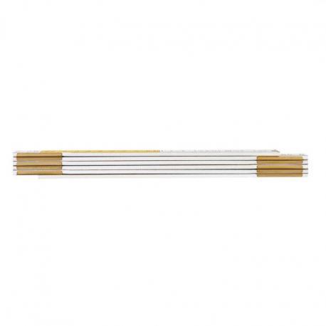 NEO Miara składana drewniana 1 m, biało-żółta