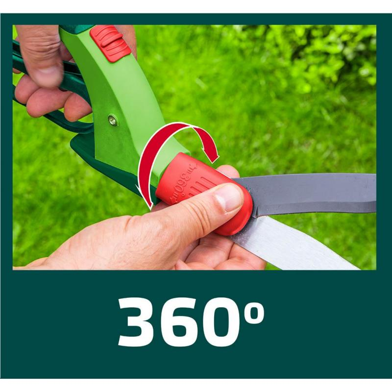 VERTO Nożyce do trawy 340 mm, wielopozycyjne