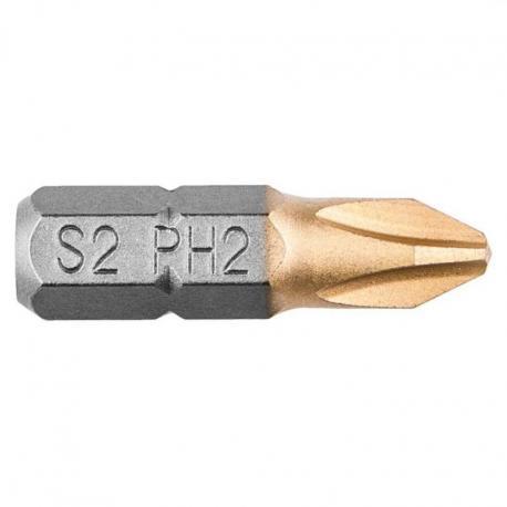 GRAPHITE Końcówki wkrętakowe PH2 x 25 mm, 2 szt.