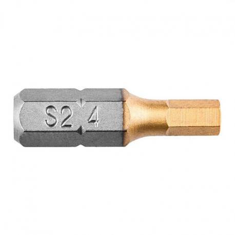 GRAPHITE Końcówki wkrętakowe HEX4.0 x 25 mm, 2 szt.