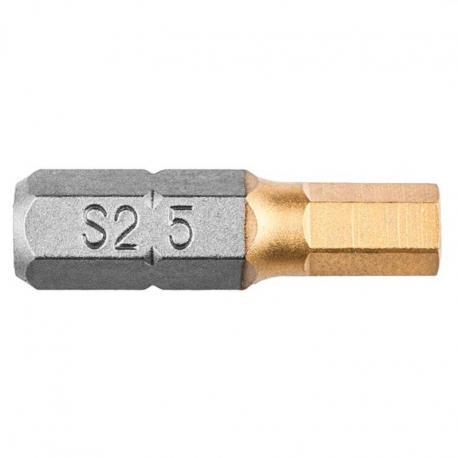 GRAPHITE Końcówki wkrętakowe HEX5.0 x 25 mm, 2 szt.