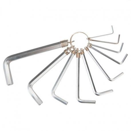 TOPEX Klucze sześciokątne 1.5-10 mm, zestaw 10 szt.