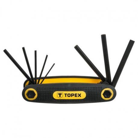 TOPEX Klucze sześciokątne 1.5-6 mm, zestaw 8 szt.