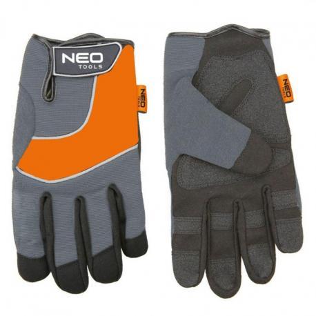 """NEO Rękawice robocze, skóra syntetyczna, wstawki PCV, 10"""""""