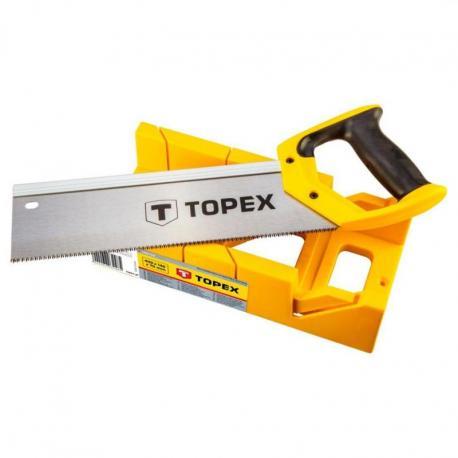TOPEX Piła grzbietnica 300 mm ze skrzynką uciosową
