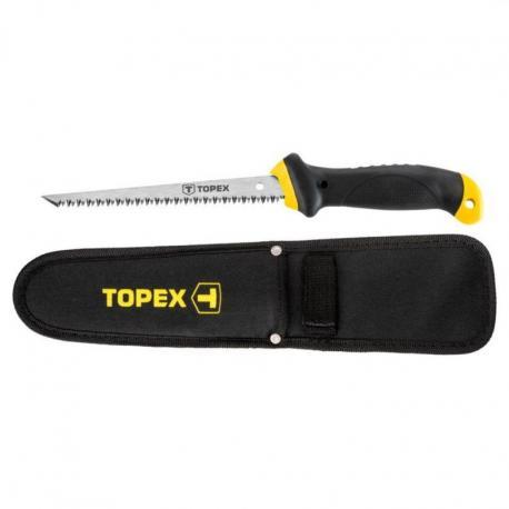 TOPEX Piła do płyt gipsowo-kartonowych 150 mm z pokrowcem