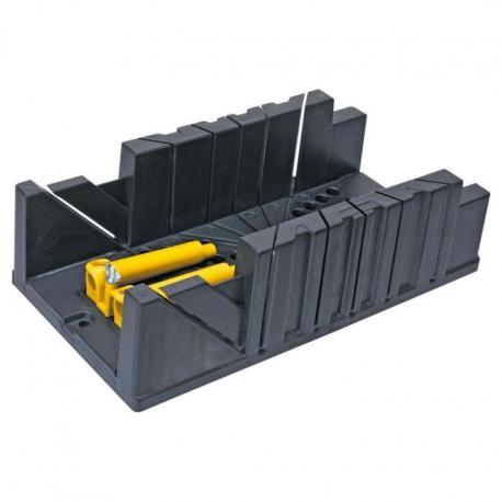 TOPEX Skrzynka uciosowa plastikowa 326x122x78 mm, z zaciskami