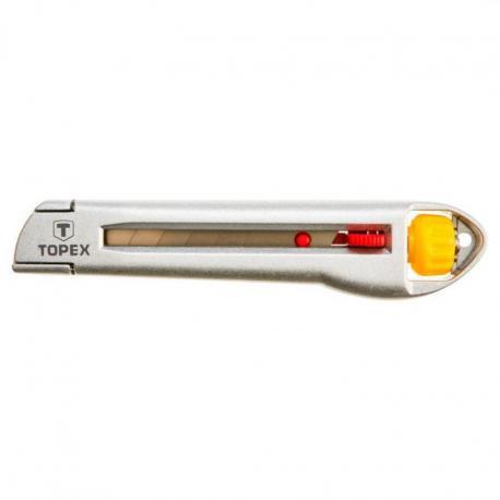 TOPEX Nóż z ostrzem łamanym 18 mm, metalowy korpus