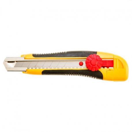 TOPEX Nóż z ostrzem łamanym 18 mm, blokada śrubowa