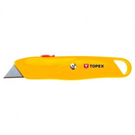 TOPEX Nóż z ostrzem trapezowym, metalowy korpus