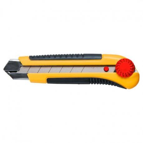 TOPEX Nóż z ostrzem łamanym 25 mm, blokada śrubowa