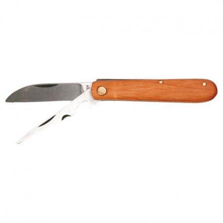 TOPEX Nóż monterski ze szpikulcem drewniane okładki