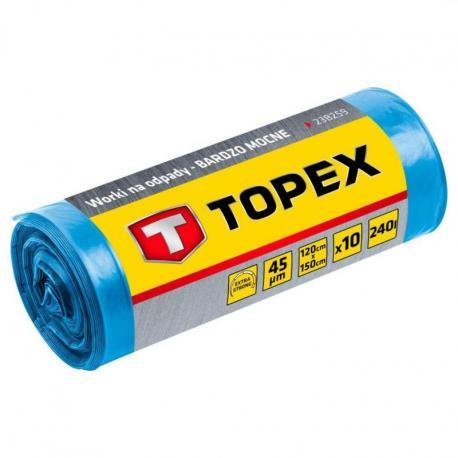 TOPEX Worki na odpady 240 L, niebieskie, 45 mic