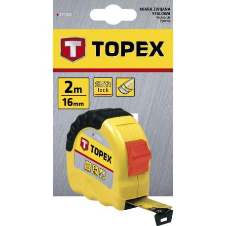 TOPEX Miara zwijana stalowa 2 m x 16 mm