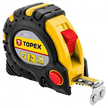 TOPEX Miara zwijana stalowa 3 m x 19 mm, magnes