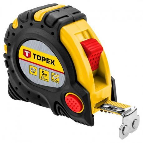 TOPEX Miara zwijana stalowa 5 m x 25 mm, magnes