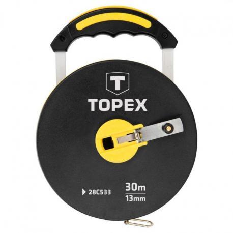TOPEX Taśma miernicza włókno szklane 30 m