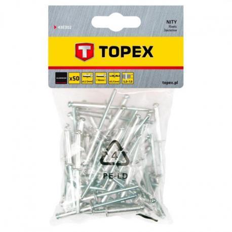 TOPEX Nity aluminiowe 3.2 x 10 mm, 50 szt.