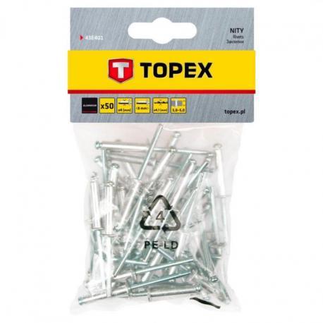 TOPEX Nity aluminiowe 4.0 x 8 mm, 50 szt.