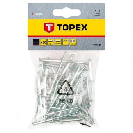 TOPEX Nity aluminiowe 4.0 x 10 mm, 50 szt.