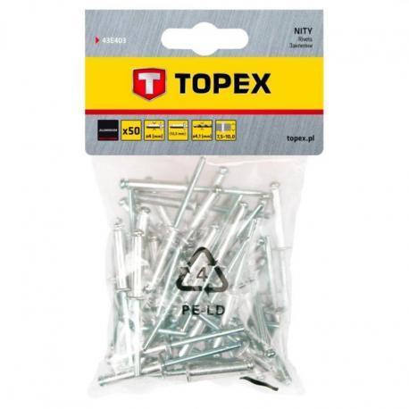 TOPEX Nity aluminiowe 4.0 x 12.5 mm, 50 szt.