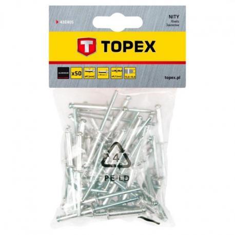 TOPEX Nity aluminiowe 4.0 x 18 mm, 50 szt.