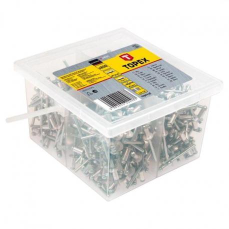 TOPEX Nity aluminiowe 4.0 x 10 mm, 800 szt.