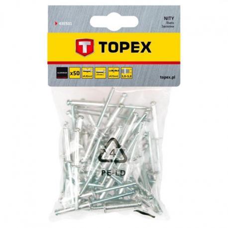 TOPEX Nity aluminiowe 4.8 x 8.0 mm, 50 szt.