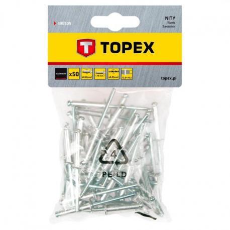 TOPEX Nity aluminiowe 4.8 x 18 mm, 50 szt.