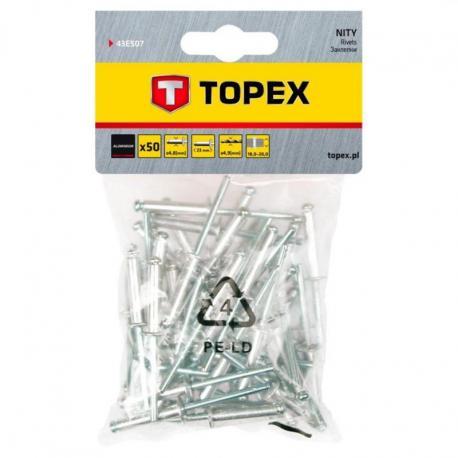 TOPEX Nity aluminiowe 4.8 x 23 mm, 50 szt.