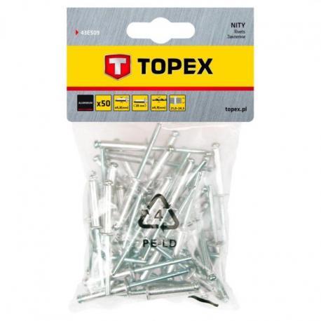 TOPEX Nity aluminiowe 4.8 x 28 mm, 50 szt.