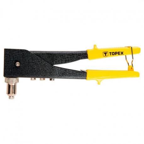 TOPEX Nitownica do nitów aluminiowych 2.4/3.2/4.0/4.8 mm, dwupołożeniowa