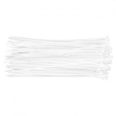TOPEX Opaski zaciskowe 2.5 x 200 mm, 100 szt., białe