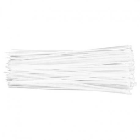 TOPEX Opaski zaciskowe 3.6 x 300 mm, 100 szt., białe