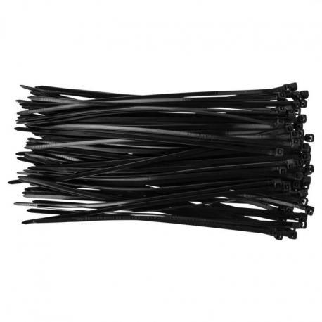 TOPEX Opaski zaciskowe 3,6 x 200 mm, 100 szt., czarne