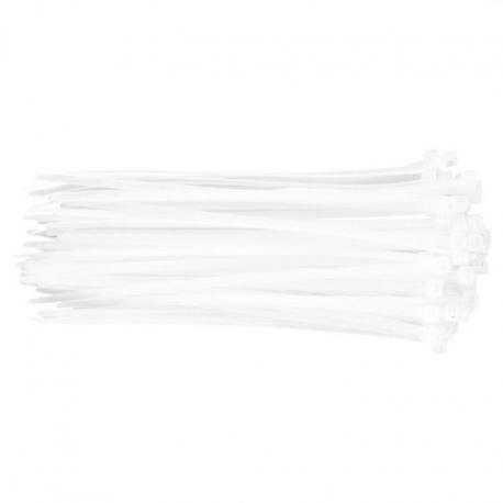 TOPEX Opaski zaciskowe 4.8 x 200 mm, 75 szt., białe