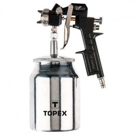 TOPEX Pistolet lakierniczy dolny zbiornik 1.0 l, dysza 1.5 mm
